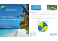 Yacht Carbon Offset Flyer